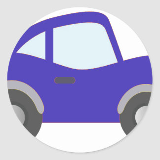 Carro azul do cupé dos desenhos animados adesivo
