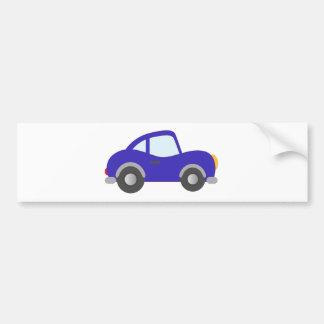Carro azul do cupé dos desenhos animados adesivo para carro