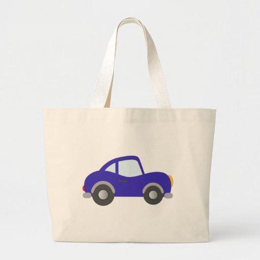 Carro azul do cupé dos desenhos animados bolsa para compras