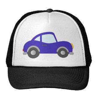 Carro azul do cupé dos desenhos animados boné