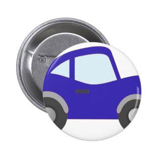 Carro azul do cupé dos desenhos animados botons