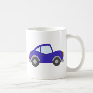 Carro azul do cupé dos desenhos animados caneca