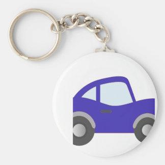 Carro azul do cupé dos desenhos animados chaveiro