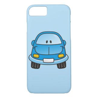 Carro azul dos desenhos animados capa iPhone 7