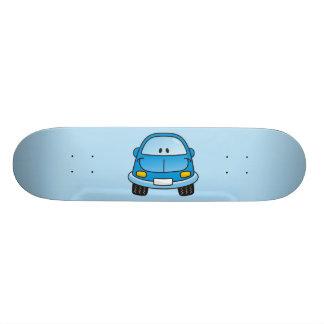 Carro azul dos desenhos animados shape de skate 19,7cm