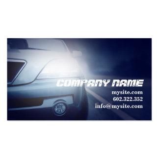 Carro azul escuro automotriz do mecânico cartão de visita