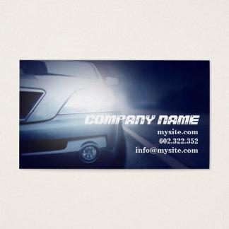 Carro azul escuro automotriz do mecânico cartão de visitas