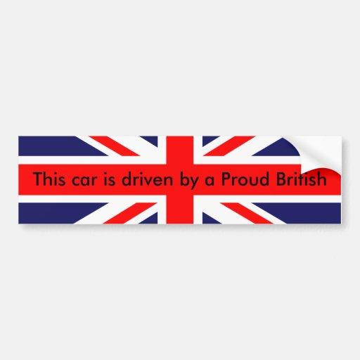 Carro britânico orgulhoso adesivo