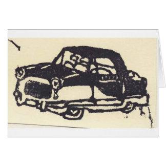 Carro carimbado borracha cartão comemorativo
