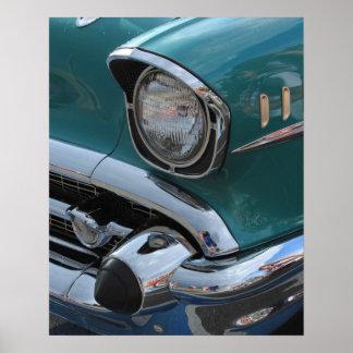 Carro clássico azul poster
