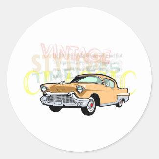 Carro clássico, Bel Air velho de Chevrolet no Adesivo Em Formato Redondo
