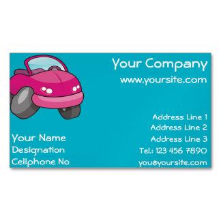 Carro cor-de-rosa dos desenhos animados