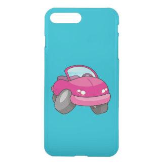 Carro cor-de-rosa dos desenhos animados capa iPhone 7 plus