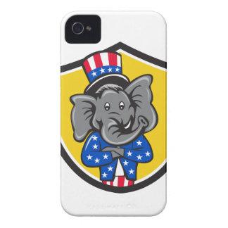 Carro cruzado do protetor da mascote do elefante capinha iPhone 4