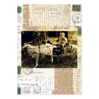Carro da cabra cartão de visita grande