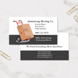 Carro da zorra do motor da empresa de mudanças cartão de visitas
