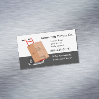 Carro da zorra do motor da empresa de mudanças cartão de visitas magnético