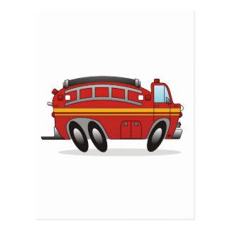 Carro de bombeiros cartão postal