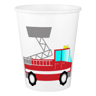 Carro de bombeiros dos copos de papel | do