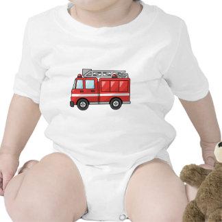 Carro de bombeiros legal motor dos desenhos animad