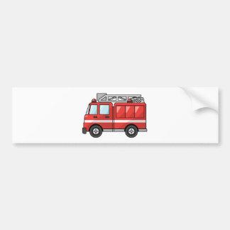 Carro de bombeiros legal motor dos desenhos animad adesivo