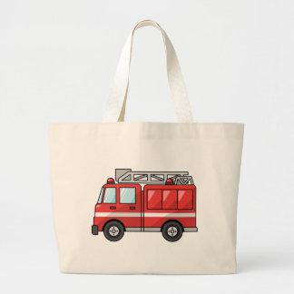 Carro de bombeiros legal motor dos desenhos animad bolsas de lona