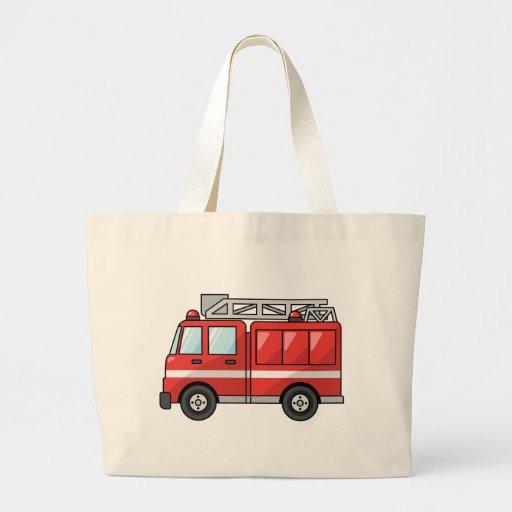 Carro de bombeiros legal/motor dos desenhos animad bolsas de lona