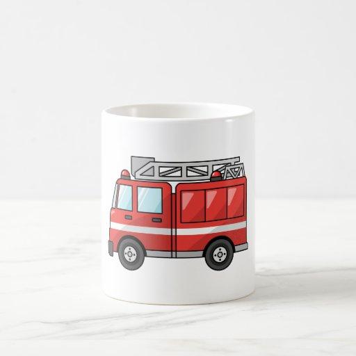Carro de bombeiros legal/motor dos desenhos animad canecas