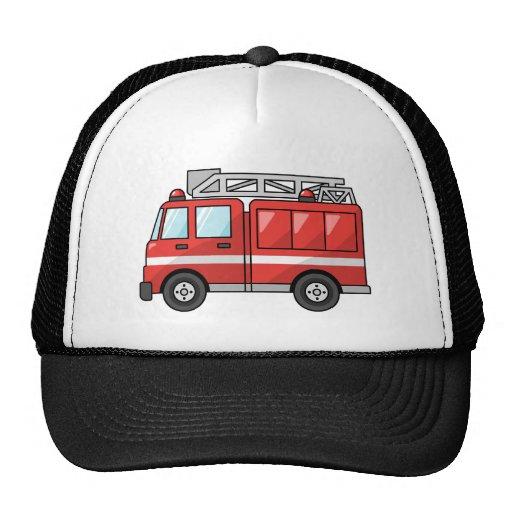 Carro de bombeiros legal/motor dos desenhos animad bonés