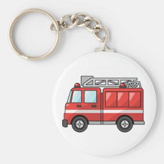 Carro de bombeiros legal motor dos desenhos animad chaveiro