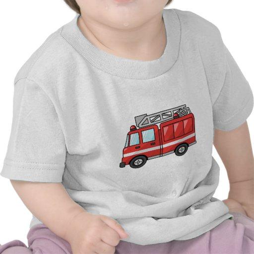 Carro de bombeiros legal/motor dos desenhos animad tshirt
