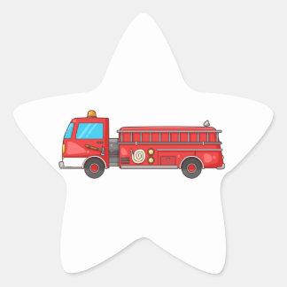 Carro de bombeiros/motor dos desenhos animados adesito estrela
