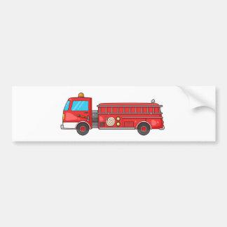Carro de bombeiros/motor dos desenhos animados adesivo para carro