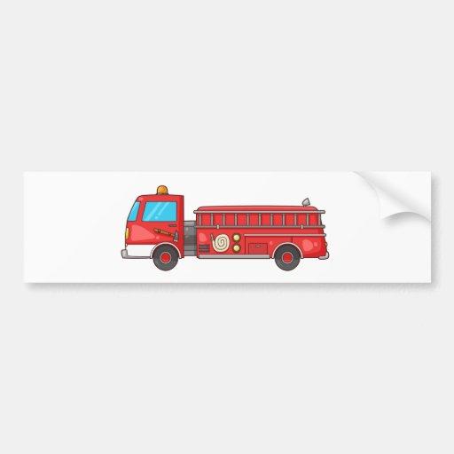 Carro de bombeiros/motor dos desenhos animados adesivos