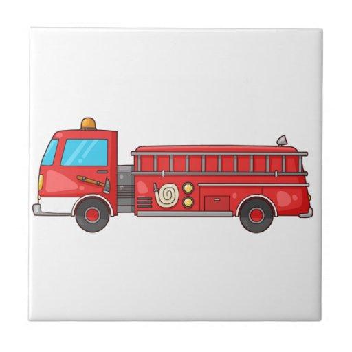 Carro de bombeiros/motor dos desenhos animados azulejos
