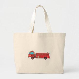 Carro de bombeiros/motor dos desenhos animados bolsas para compras