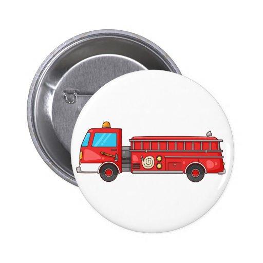 Carro de bombeiros/motor dos desenhos animados botons