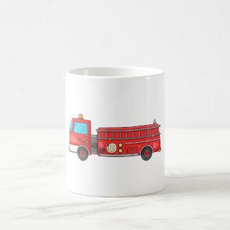 Carro de bombeiros/motor dos desenhos animados caneca