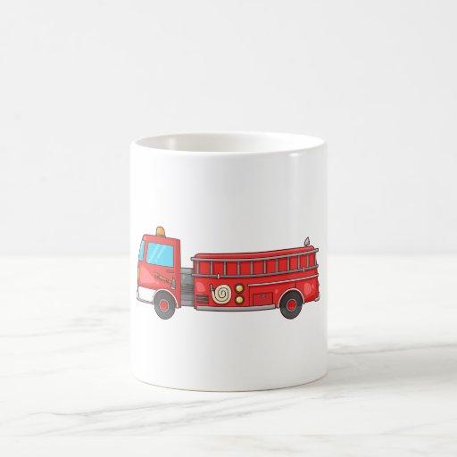 Carro de bombeiros/motor dos desenhos animados canecas