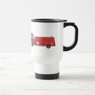 Carro de bombeiros/motor dos desenhos animados caneca térmica