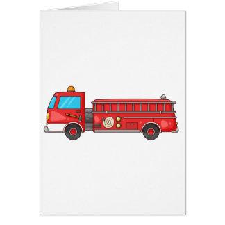 Carro de bombeiros/motor dos desenhos animados cartão comemorativo