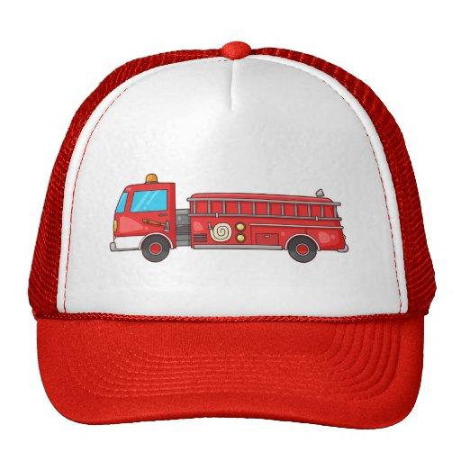 Carro de bombeiros/motor dos desenhos animados boné
