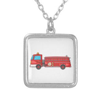 Carro de bombeiros/motor dos desenhos animados colar