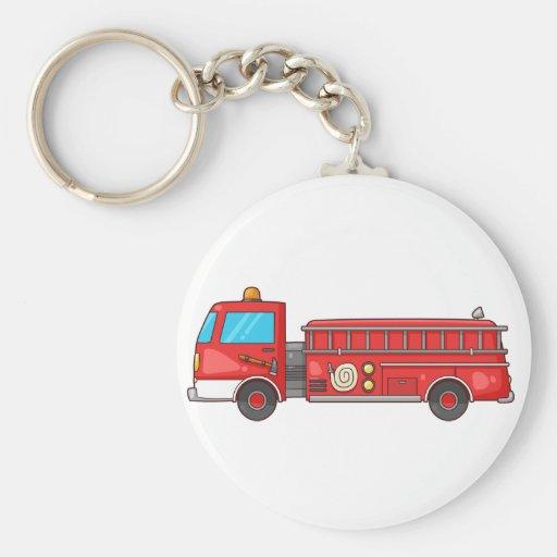 Carro de bombeiros/motor dos desenhos animados chaveiros