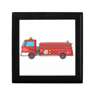 Carro de bombeiros/motor dos desenhos animados caixa de persentes