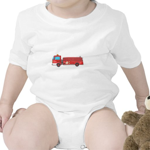 Carro de bombeiros/motor dos desenhos animados macacãozinhos para bebê