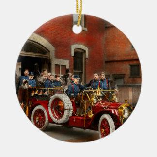 Carro de bombeiros - o esquadrão 1911 do vôo ornamento de cerâmica