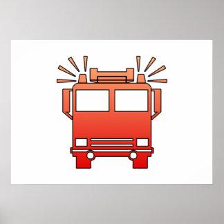 Carro de bombeiros pôsteres