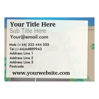 Carro de competência cartão de visita grande