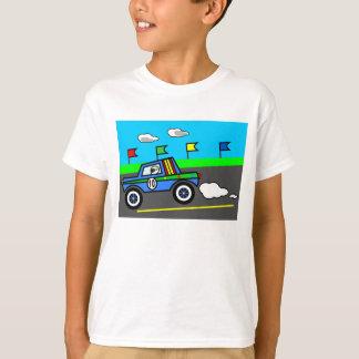 Carro de corridas na imagem dos desenhos animados camiseta